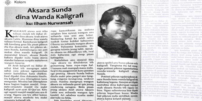 Aksara Sunda Dalam Gaya Kaligrafi Kairaga Com