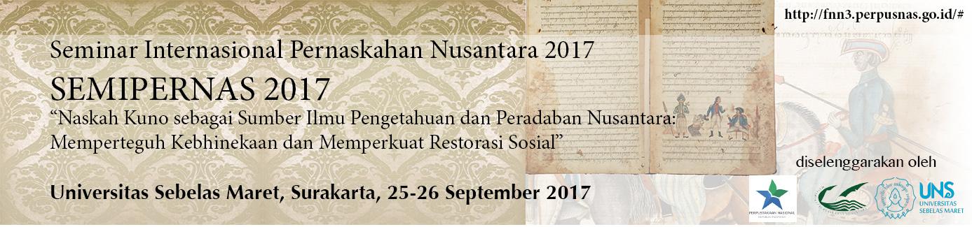 Seminar Internasional Pernaskahan Nusantara 2017