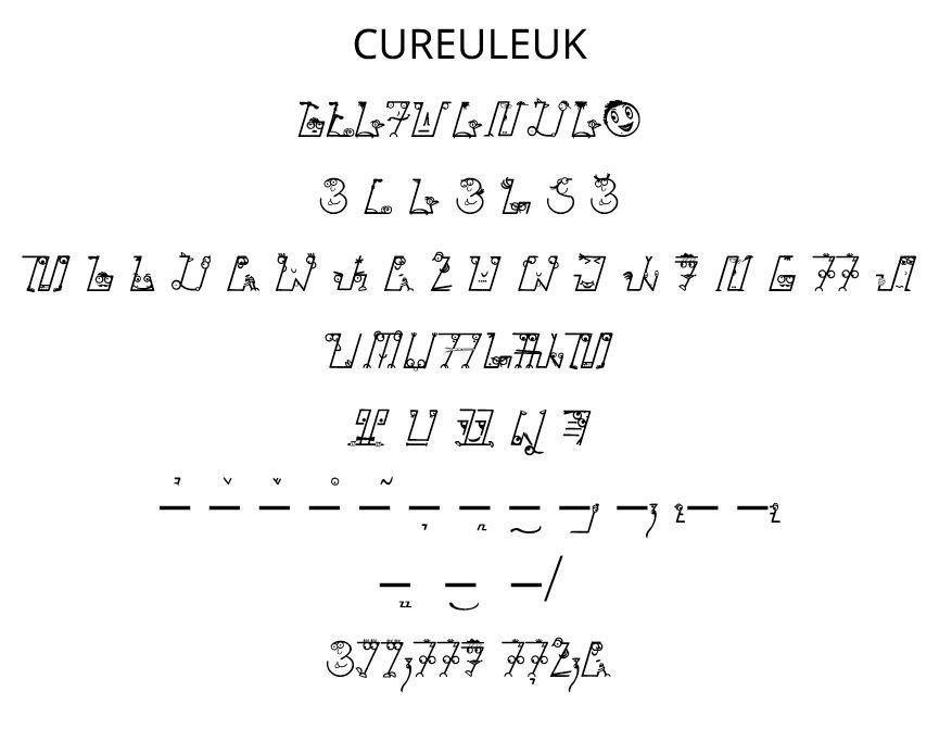 Font Sunda: Cureuleuk