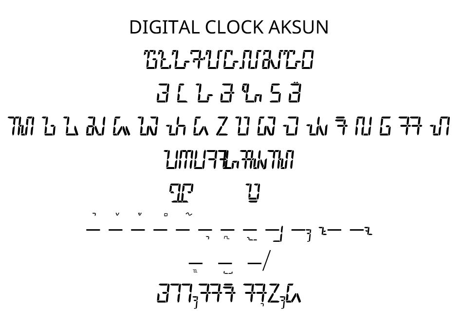 Font Sunda: Digital Clock Aksun
