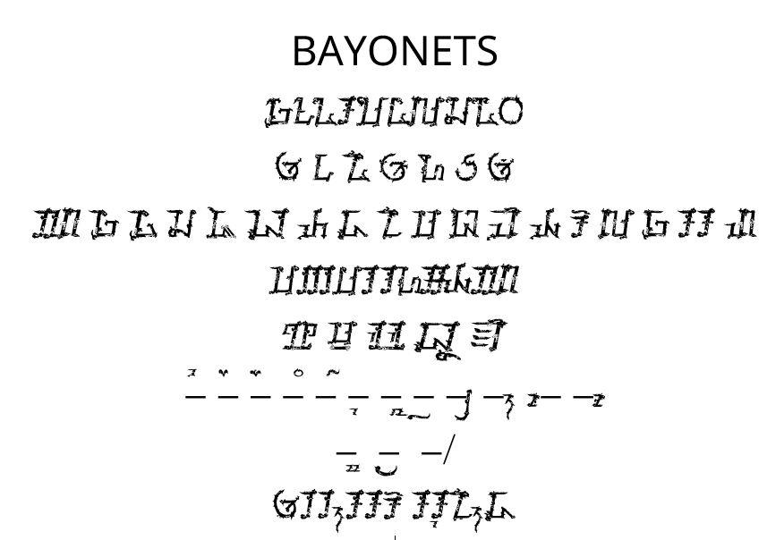 Font Sunda: Bayonets