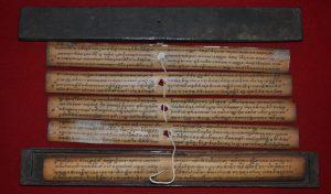 Gebang Manuscripts with Buda-Gunung script
